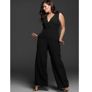Lane Bryant X Glamour Black Wide Leg Jumpsuit